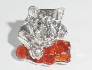 Broche bijou de luxe opale